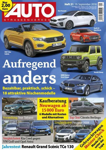 Auto Strassenverkehr Magazin No 21 vom 19 September 2018