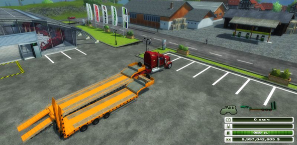 Low Loader Galtrailer Orange v 1.0