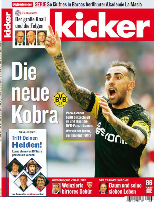 Kicker Sportmagazin No 86 vom 22 Oktober 2018