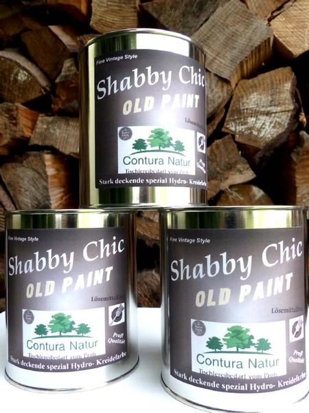 antik shabby chic kreidefarbe m bel farbe wei matt lack holz landhaus vintage ebay. Black Bedroom Furniture Sets. Home Design Ideas