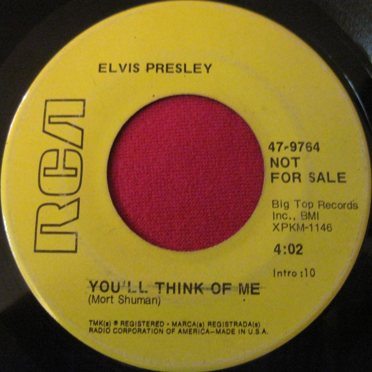Suspicious Minds / You'll Think Of Me 47-9764bqwjwe