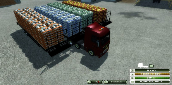 Flatebed Refillable Seed Trailer v 1.1