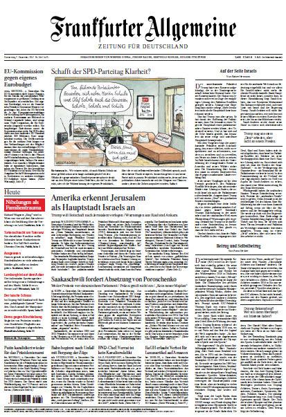 :  Frankfurter Allgemeine 07 Dezember 2017