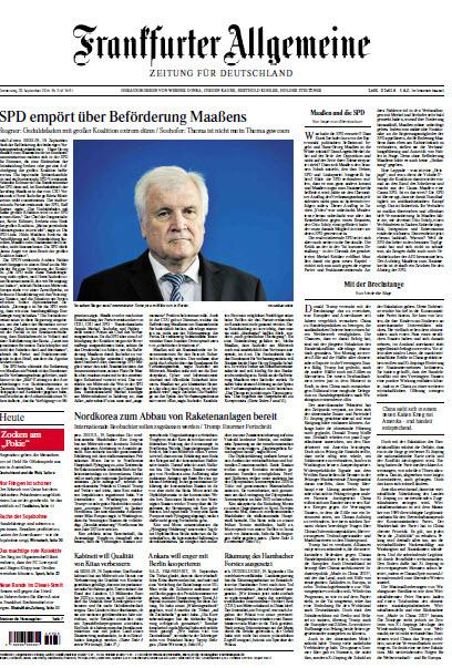 Frankfurter Allgemeine 20 September 2018
