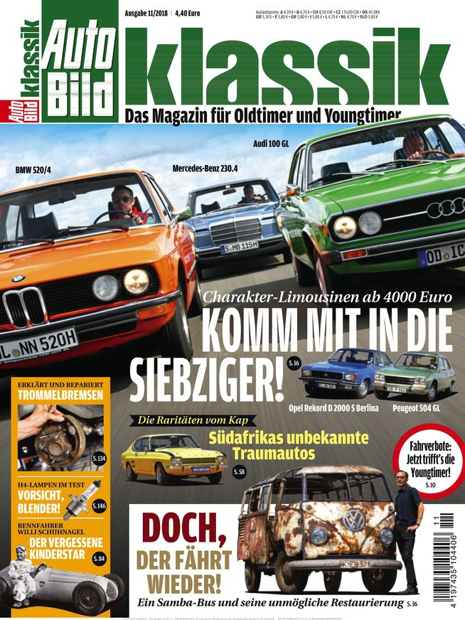 Auto Bild Klassik Magazin November No 11 2018
