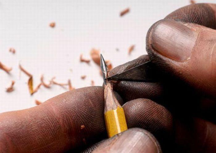Rzeźby w ołówkach 1