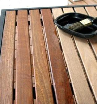 teak l hart l holz l f gartenm bel holzschutz pflege l. Black Bedroom Furniture Sets. Home Design Ideas