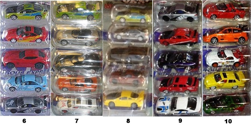 complete   fast   furious collection  racing champions ertl page  hobbytalk