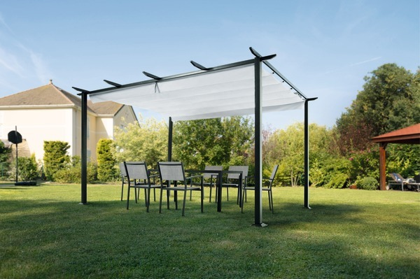 pergola 3 x 4 standmarkise stand markise terrassen sonnenschutz sonderpreis ebay. Black Bedroom Furniture Sets. Home Design Ideas