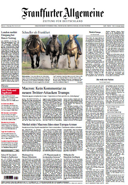 Frankfurter Allgemeine 14 November 2018