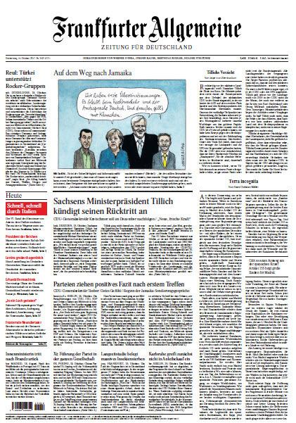 Frankfurter Allgemeine vom 19 Oktober 2017