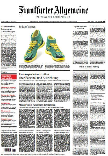 Frankfurter Allgemeine vom 20 Oktober 2017