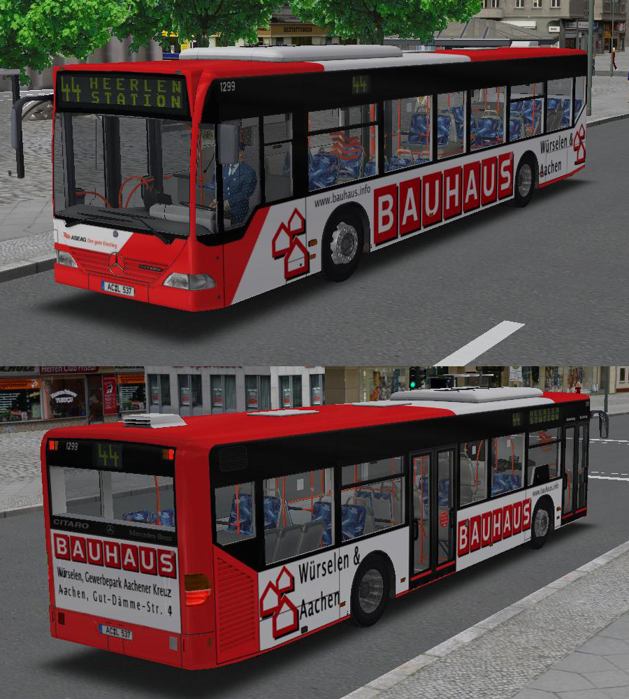 stein0r 39 s aseag werbe repaints mb citaro 830 g bus repaints bus repaints marcels omsi. Black Bedroom Furniture Sets. Home Design Ideas