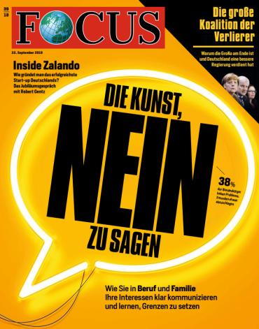 Focus Nachrichtenmagazin No 39 vom 22 September 2018