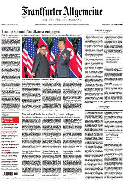 :  Frankfurter Allgemeine 13 Juni 2018