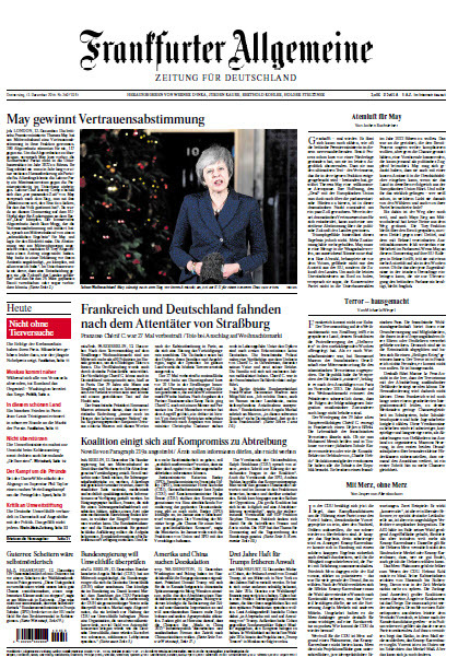Frankfurter Allgemeine 13 Dezember 2018