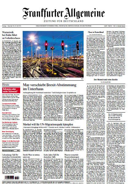 Frankfurter Allgemeine 11 Dezember 2018