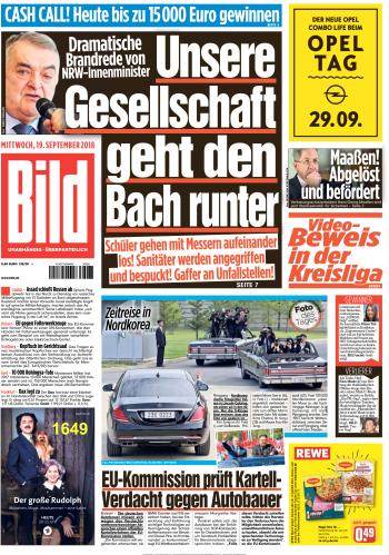 Bild Zeitung 19 September 2018