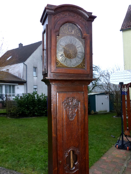 top barock standuhr antik wien 1780 longcase clock pendule uhrwerk pendeluhr uhr ebay. Black Bedroom Furniture Sets. Home Design Ideas