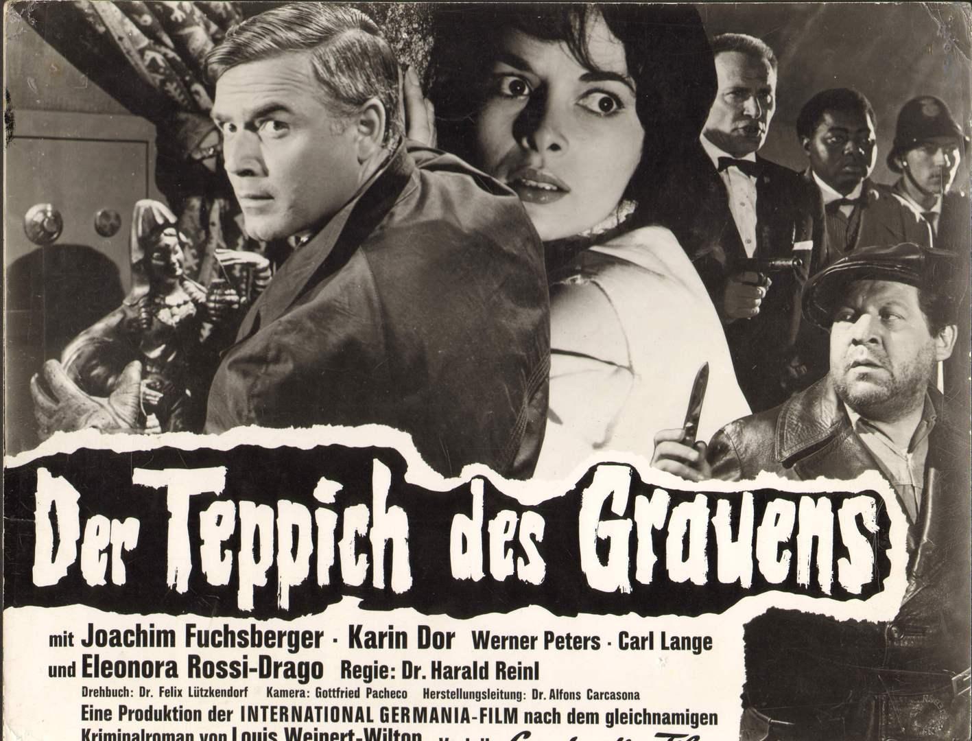 Der Teppich des Grauens Aushangfoto  Filmplakat Karin Dor