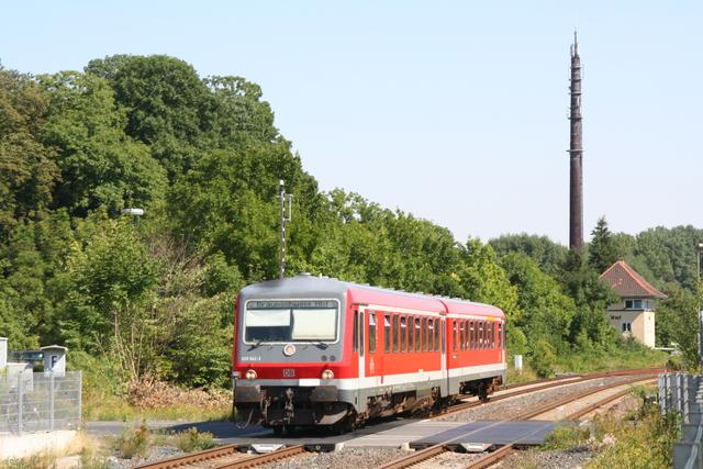 628 542-3 Einfahrt Wolfenbüttel