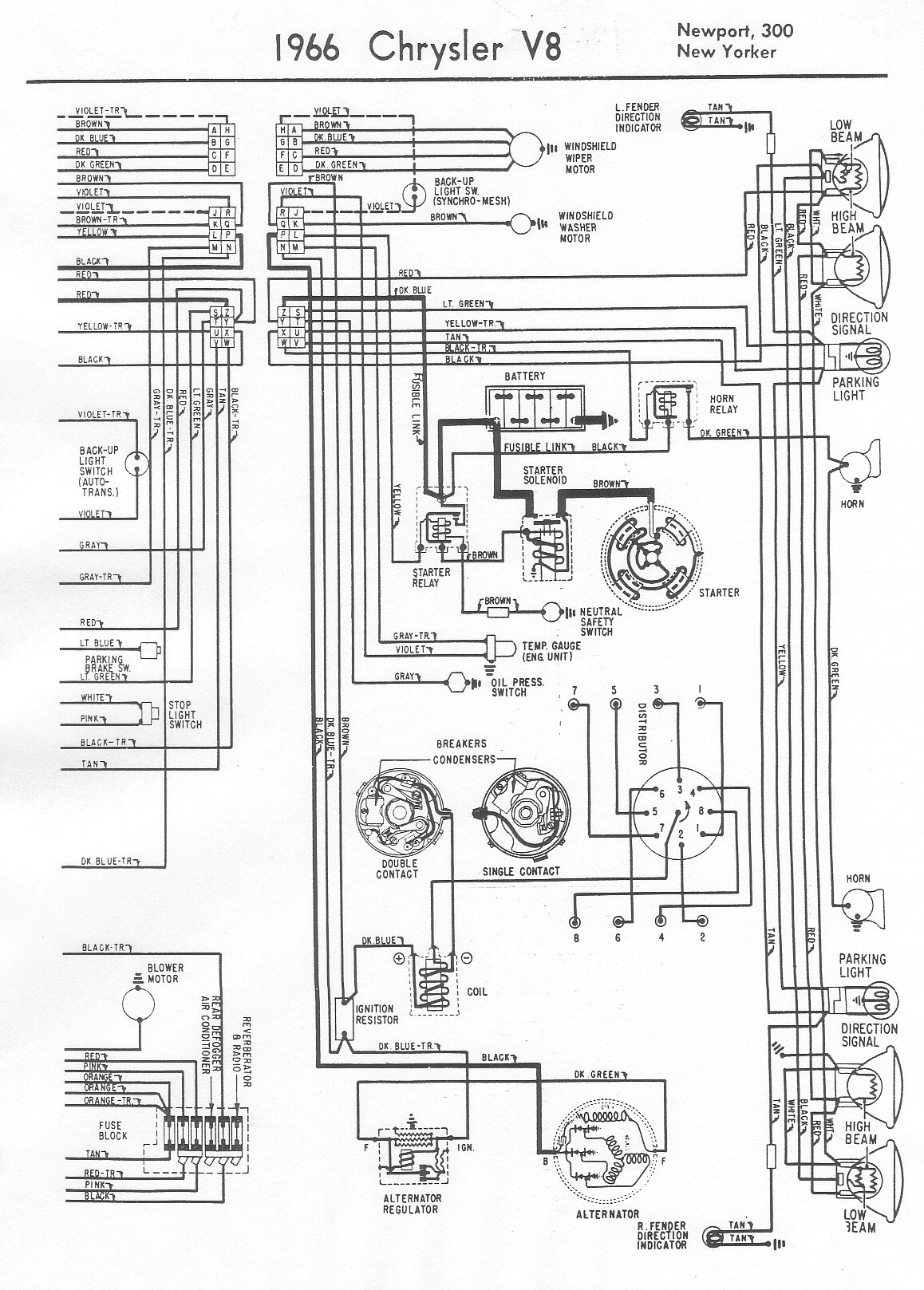 1965 chrysler new yorker wiring diagram 1965 chrysler boat