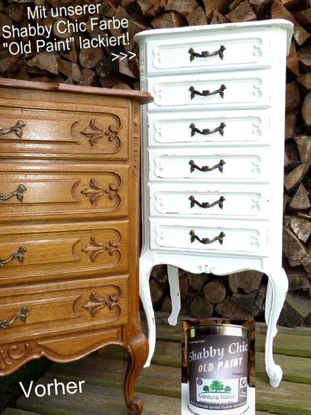 antik shabby chic kreidefarbe m bel farbe wei matt lack holz landhaus vintage ebay. Black Bedroom Furniture Sets. Home Design Ideas