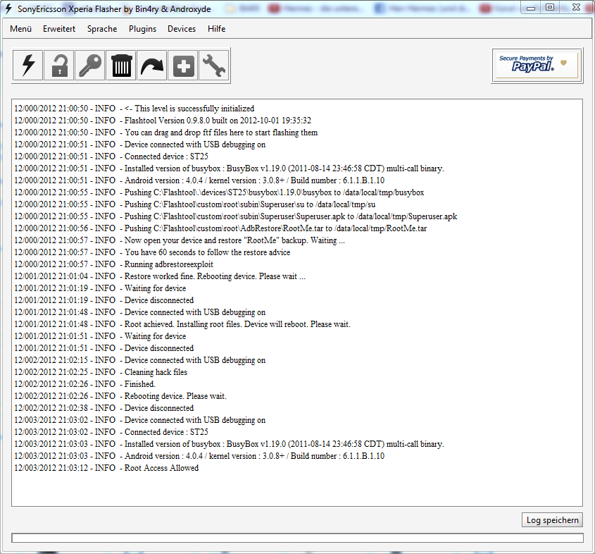 Step 7 : Check the log files as shown below :