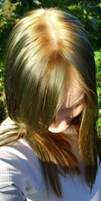 grüne haare blondieren
