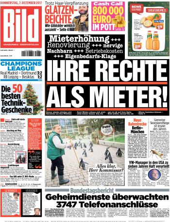 :  Bild Zeitung 07 Dezember 2017