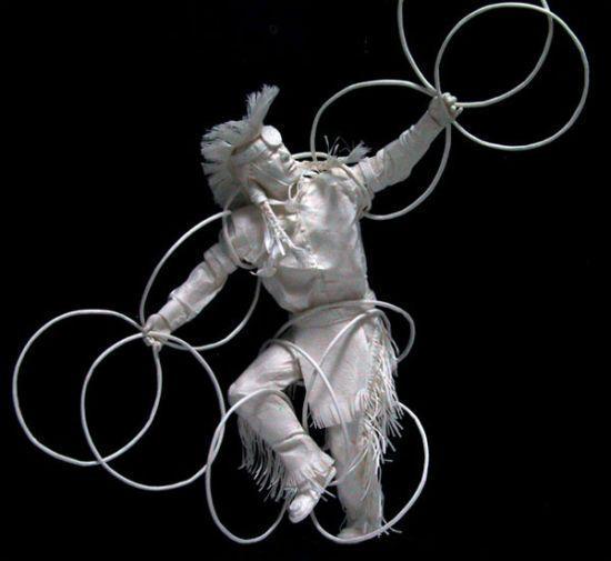 Papierowe rzeźby 14