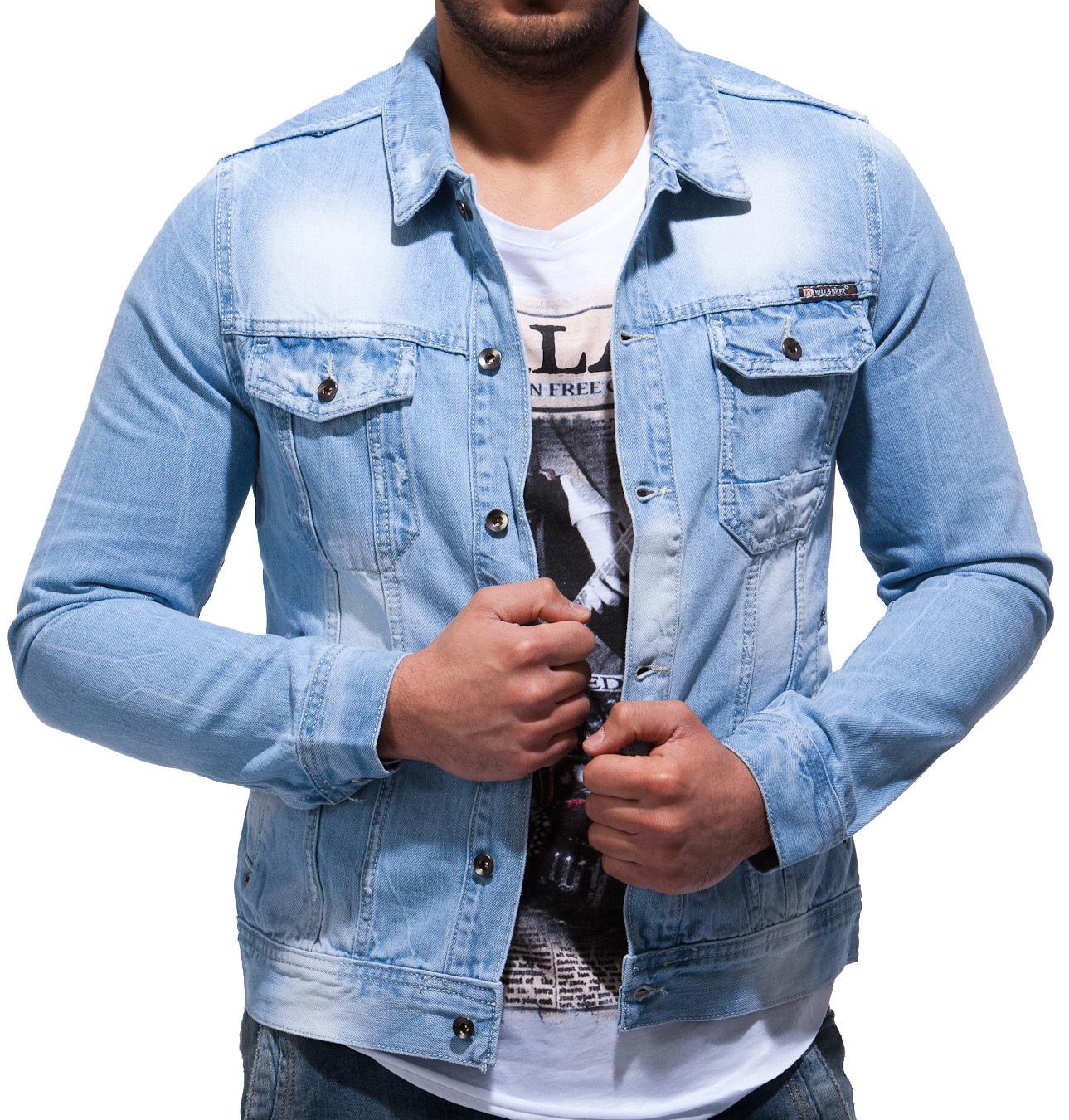 balandi herren jeans jeansjacke jacke denim sakko blazer neu style shirt 8002 ebay. Black Bedroom Furniture Sets. Home Design Ideas