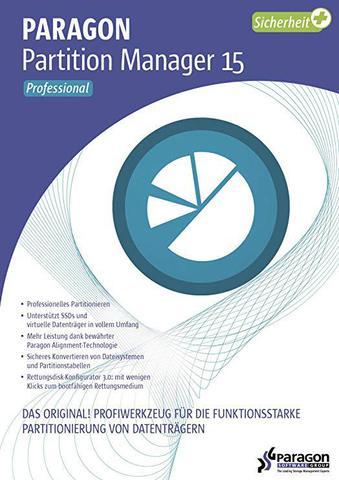 Paragon Festplatten Manager 15 Professional v10.1.25.772