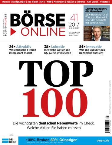 :  Börse Online Magazin No 41 vom 12 Oktober 2017