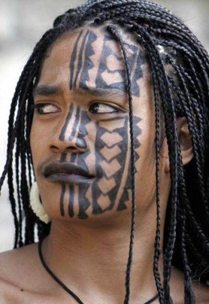 Tatuaże na twarzy 5