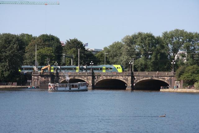 94 80 1430 0xx-x D-NBE (ET6.0x) Hamburg Alster Mit Dampfschiff