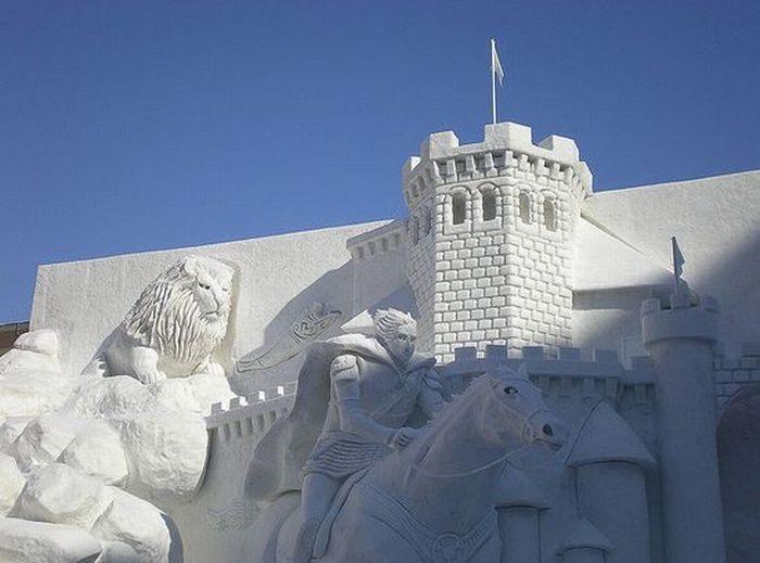 Rzeźby ze śniegu 32