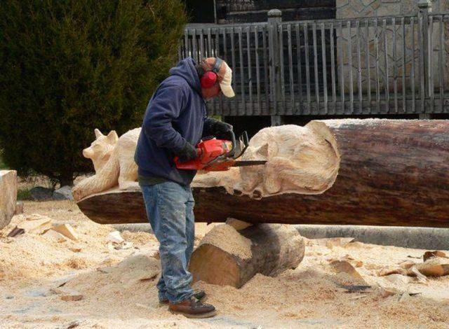 Niesamowite rzeźby w drewnie. 2