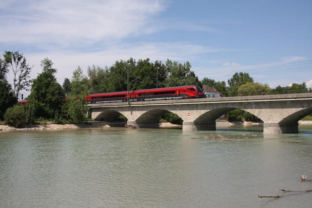 A-ÖBB 73 81 80-90 783-4 Afmpz Salzburg Saalachbrücke