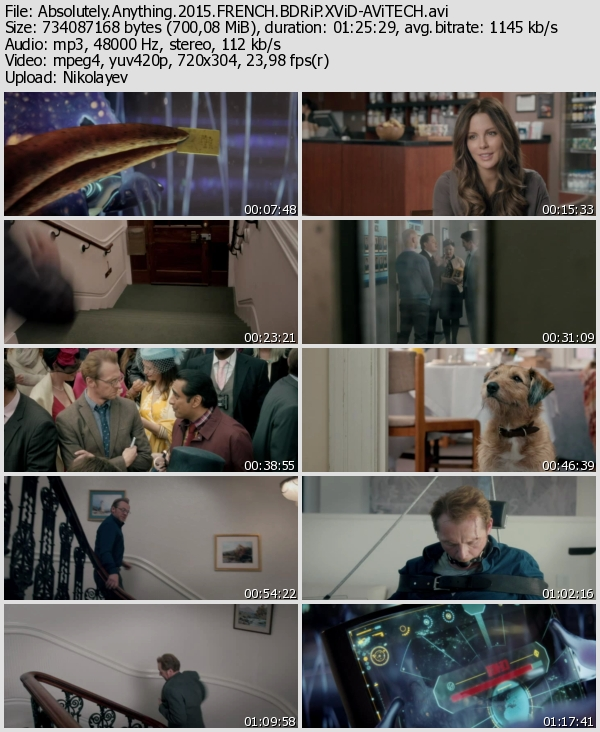 Absolutely Anything 2015 ( BRRip XviD ) Türkçe Altyazı BluRay Dual Türkçe Dublaj Film indir, Film-Rip.Com Film indir