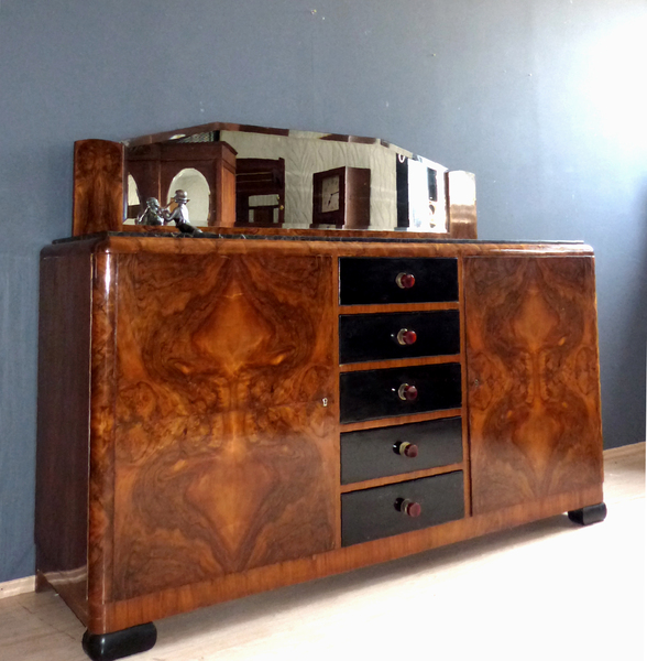 art deco sideboard anrichte aus paris design kommode 20er. Black Bedroom Furniture Sets. Home Design Ideas