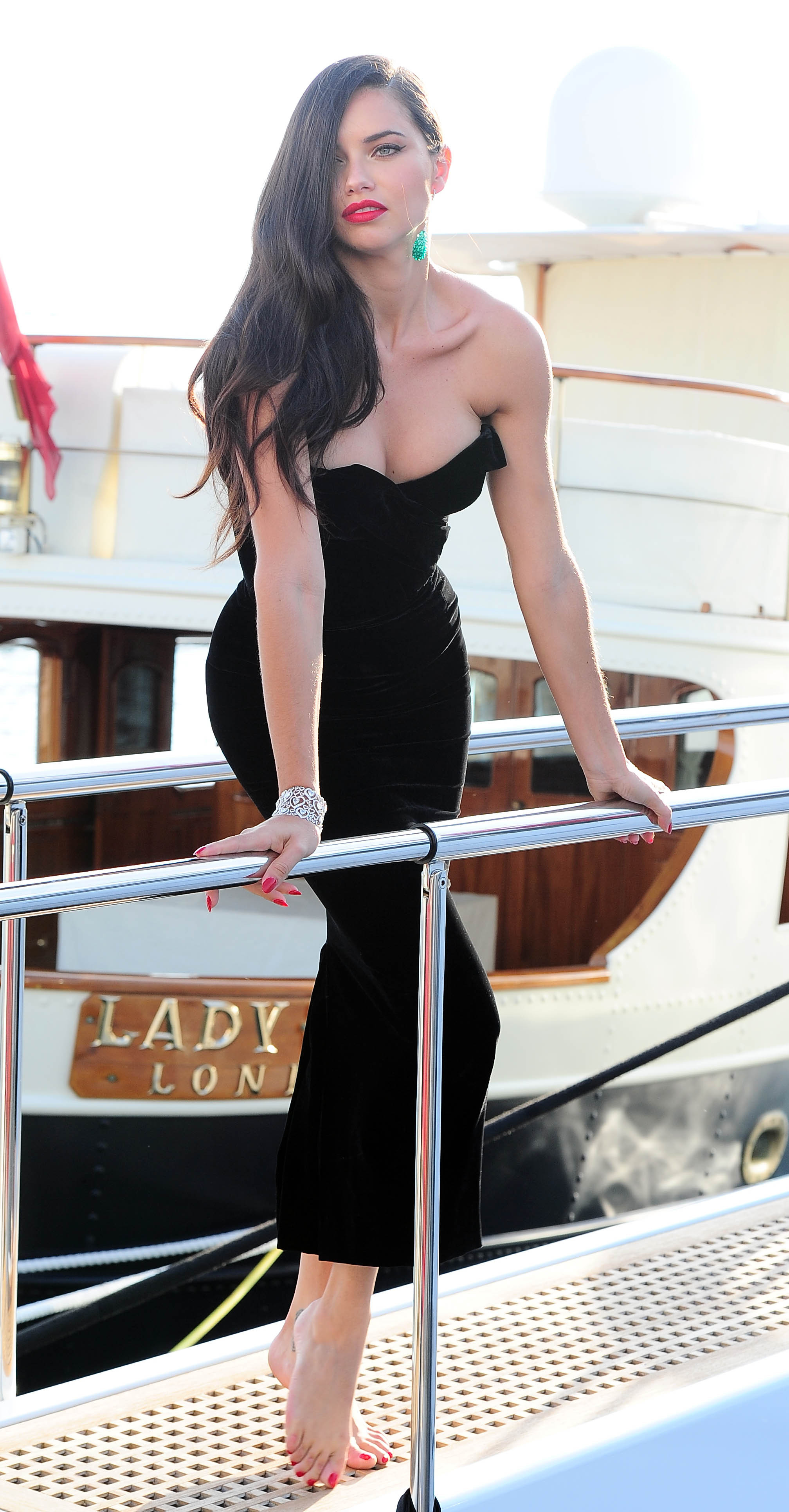 Black dress we heart it - Otherground Forums Adriana Lima Arriving At Cannes Pics