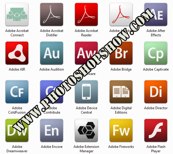 Adode iconları, adobe icons