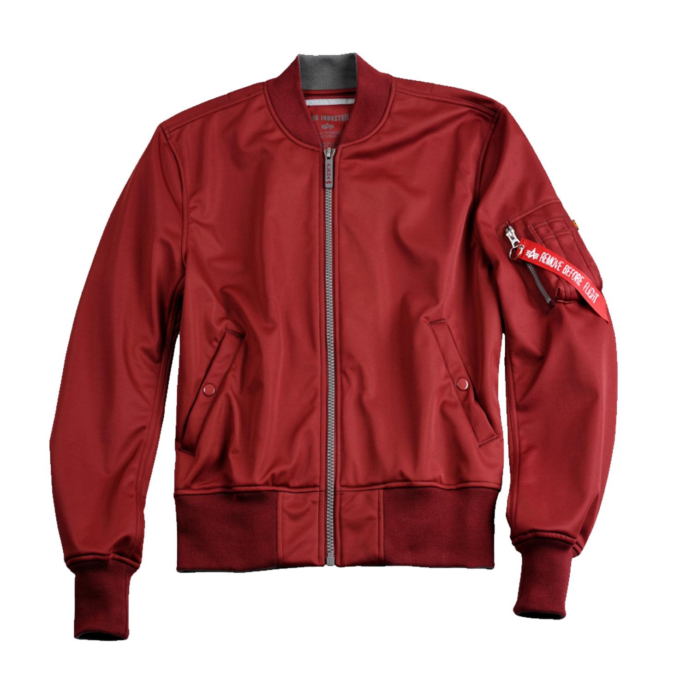 Rote alpha jacke