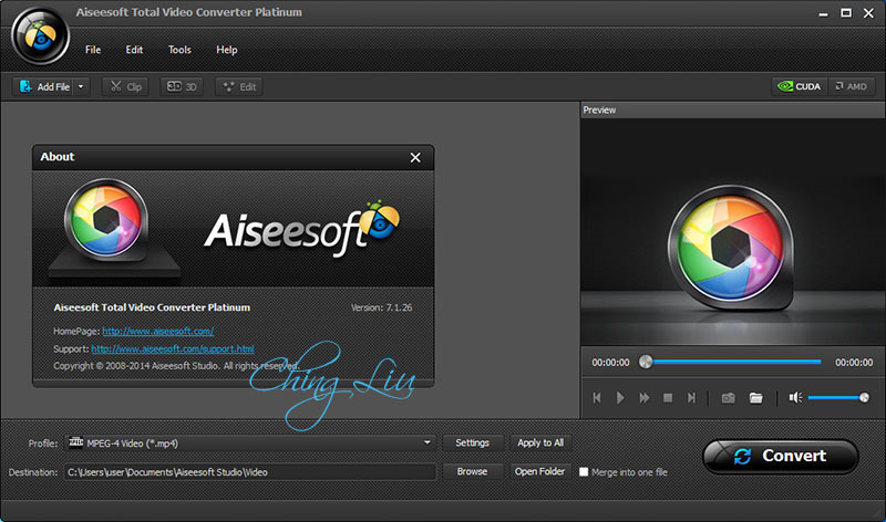 Aiseesoft Total Video Converter Platinum 7 1 26  ChingLiu  Torrent