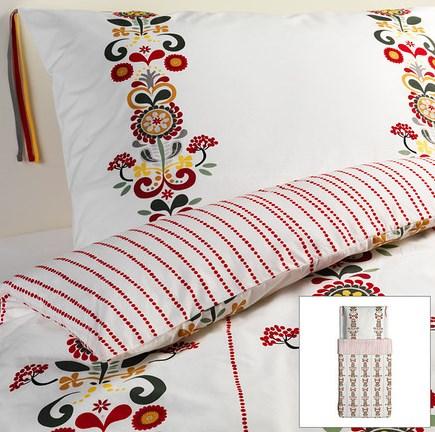 ikea edle perkal wende bettw sche set garnitur akerkulla blumen 140x200 neu ebay. Black Bedroom Furniture Sets. Home Design Ideas