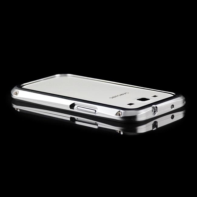 CNC-Aluminium-Bumper-Case-Alu-Huelle-Tasche-Silber-fuer-Samsung-i9300-Galaxy-S3