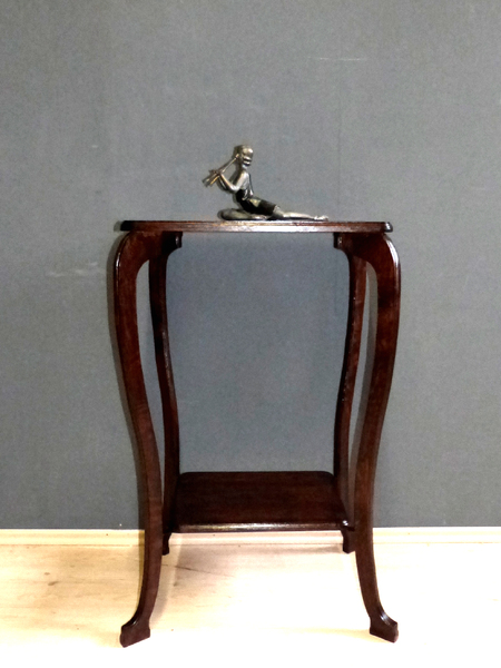 Jugendstil beistelltisch antik eiche art nouveau konsole for Telefon beistelltisch