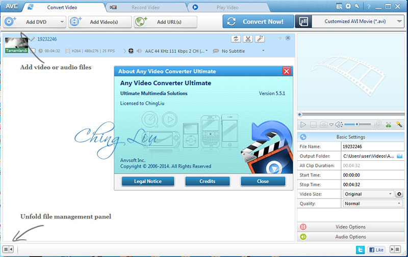 Download Any Video Converter Ultimate 5.5.1 [ChingLiu]