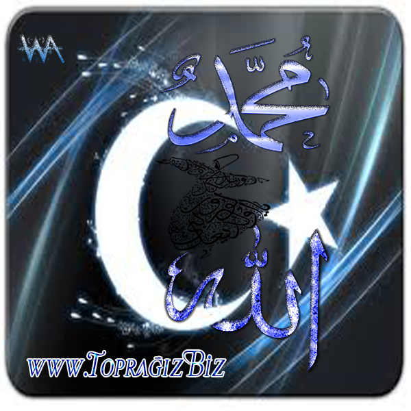 Allah- Hz. Muhammet - Ay Y�ld�z- Topra��zBiz